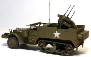 M16多連装銃搭載車 ウオッシングとドライブラシ