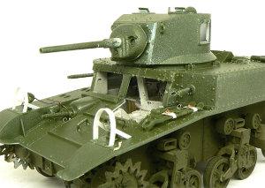 M3A1スチュアート 砲塔の組立て