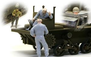 M4ハイスピード・トラクター フィギュアの組み立て