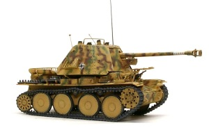 対戦車自走砲マーダー3H型 ウオッシングとドライブラシ