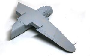 不時着したMe109G-10 機体の裏側