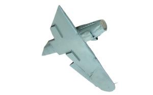 不時着したMe109G-10 機体下面の塗装