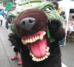 夕張市のゆるキャラ(?)メロン熊