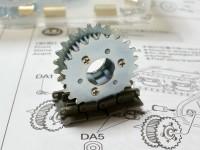 起動輪と誘導輪の組み立て