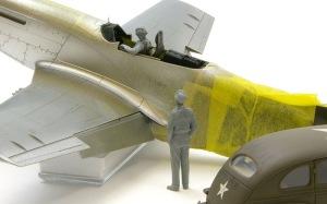 P-51Dマスタング&アメリカ陸軍スタッフカー フィギュアの組み立て