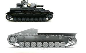 8.8cm対戦車自走砲ナスホルン 履帯の組立て