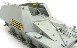 8.8cm対戦車自走砲ナスホルン トラベルロックのリリースワイヤー