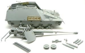 8.8cm対戦車自走砲ナスホルン 組立て完了と洗浄