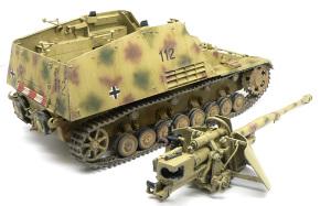 8.8cm対戦車自走砲ナスホルン 履帯の汚しと取り付け