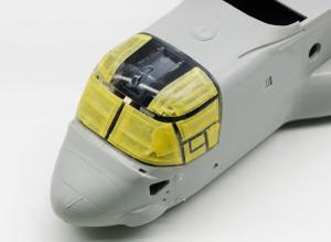 MV-22Bオスプレイ キャノピーのマスキング