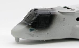 MV-22Bオスプレイ コクピットの窓を埋める
