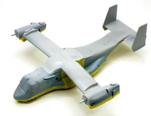 MV-22Bオスプレイ 2色目を塗るためのマスキング