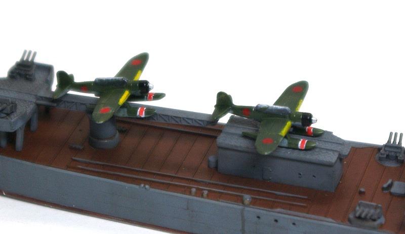 軽巡洋艦大淀 艦載機 軽巡洋艦大淀 艦載機 艦載機の零式水上偵察機2機を作りました。山城に搭載.
