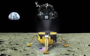 アポロ11号月着陸船 下降部を残し上昇部だけで離陸