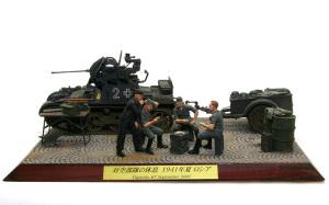 対空部隊の休息 ベースの塗装