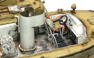 水陸両用牽引車(LWS)後期型 キャビンの内部