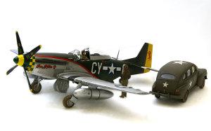 P-51Dマスタング&アメリカ陸軍スタッフカー 1/48 タミヤ