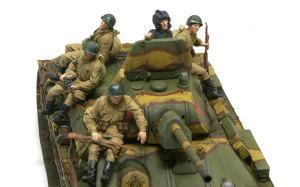 ソビエト歩兵・戦車搭乗セット 1/35 ミニアート