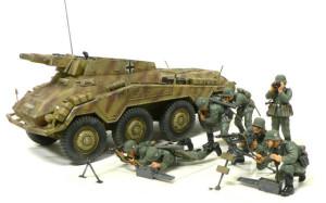 ドイツ・8輪重装甲車 Sd.kfz.234/3 シュトゥメル 1/35 タミヤ