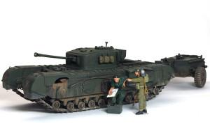 イギリス・歩兵戦車チャーチル・クロコダイル 1/35 タミヤ