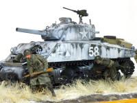 アメリカ・M4A3シャーマン 105mm榴弾砲搭載型 1/35 タミヤ