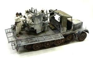 ドイツ・8トンハーフトラック4連高射砲 1/35 タミヤ