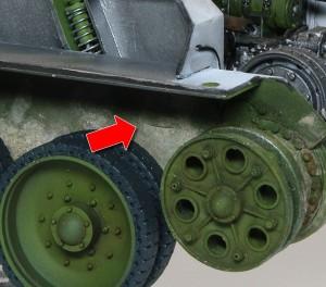 T-34/76 第112工場 履帯連結ピンを戻す突起