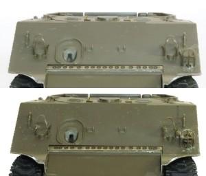 M4A3シャーマン 105mm榴弾砲搭載型 ヘッドライトガードの薄削り