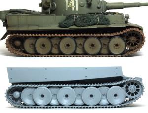 ティーガー1極初期型 フリウルの金属製履帯を参考に垂れを調整
