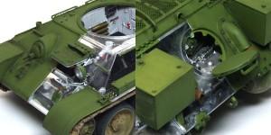 T-34/76 第112工場 前後のハッチは可動式に組んだ