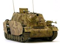 15cm榴弾砲と正面装甲10cmはあのKV-2に匹敵する装備です。これだけの重装備を回転砲塔を持たないとはいえ、4号戦車の車体にまとめた技術はみごとですね。