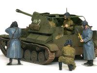 ドイツの戦車が現れるのを待っているところでしょうか?そのままで緊張感のあるフィギュアたちです。