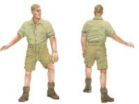 1号対戦車自走砲4.7cmPak(t)の乗員にコンバートした兵士です。シャツ姿だとあまり軍服に見えません。