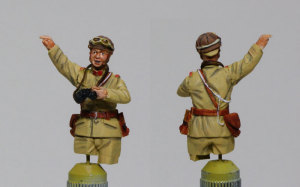 94式軽装甲車戦車兵&歩兵セット 塗装