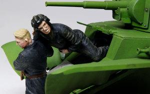ソビエト戦車兵・脱出! 傷ついた運転手