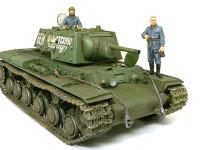 グレーの服を着た3名をKV-1'sエクラナミに乗せてみました。もともとこの戦車用に購入したのですが、3人もいれば十分です。