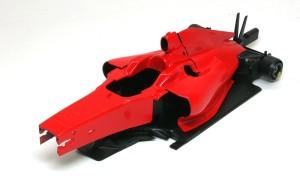 フェラーリ・F60 ボディを仮り組み