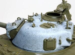 M4A3シャーマン 105mm榴弾砲搭載型 ハッチの取っ手のディテールアップ