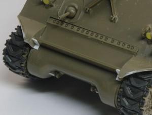 M4A3シャーマン 105mm榴弾砲搭載型 荷物ラックのディテールアップ