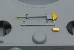 ティーガー1極初期型 エッチングパーツは部分的に使用