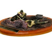 ブローニングM-1917水冷式機関銃チームです。第一次大戦から使われている古参の機関銃だそうです。信頼性があったんでしょうね。