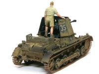 ちっちゃな1号戦車をベースにしていますから、車内にはほとんどスペースはありません。エンジンデッキが戦闘室となるため、囲いの金網がつきます。