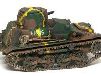 大戦前期の日本軍車輌には特徴的な黄色のうねうねラインが見られます。戦車の前後をわかりにくくする効果があったそうです。