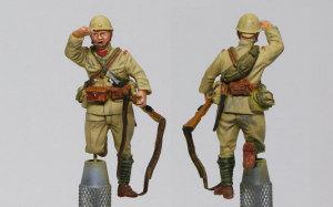 94式軽装甲車戦車兵&歩兵セット 歩兵の塗装