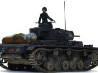 第2装甲師団第6中隊第3小隊の1号車のデカールをチョイスしました。新車なので汚していますが、チッピングは無しです。