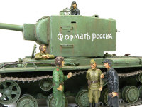 残りの4名は以前作ったタミヤのKV-2に就職です。KV-2のハッチは開閉式にしておいてよかった。