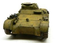 前から見た1号戦車A初期型です。なんだかのっぺりとしています。砲塔の下にアフリカ軍団のマークでも入れりゃよかったですね。デカールに入ってなかったもんで気がつきませんでした。