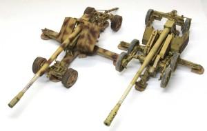 クルップ案とラインメタル案の12.8cm野砲K44