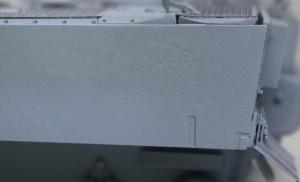 ティーガー1極初期型 サフを吹くと圧延鋼板のテクスチャがよくわかる