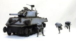M4A3シャーマン 105mm榴弾砲搭載型 レイアウトの検討